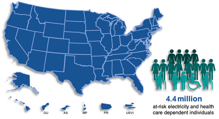 map showing states with emPOWER Map users